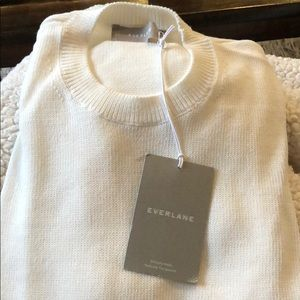 NWT Everlane white sweater